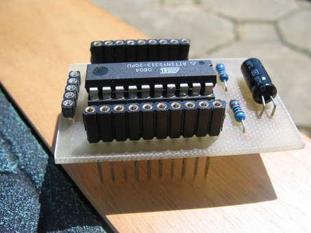 AVR mini board with additional boards using attiny2313 microcontroller