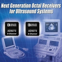 Analog Devices Maximizes Image Quality and Power Performance Across Multiple Ultrasound Platforms :  - Leveraging ADI's data conversion technology and expertise, expanded family of ultrasound solutions maximizes image quality and reduces power consumption in cart-based and battery-powered portable ultrasound equipment.