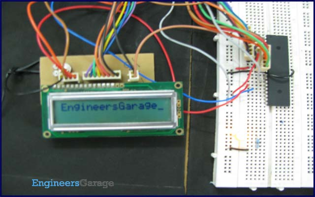 How to display text on 16x2 LCD using AVR microcontroller (ATmega16)