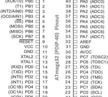 ATmega-32 Pinout