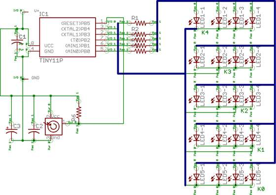 How to drive a lot of LEDs from a few microcontroller pins.