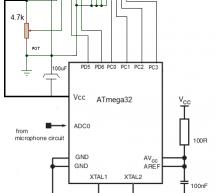 Implementing Discrete Fourier Transform in Atmega32 to make an audio spectrum analyzer