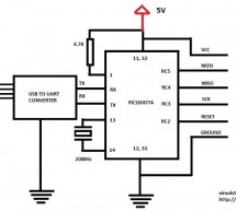 My own AVR ISP programmer using PIC16f877a and python!
