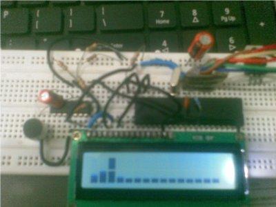 Atmega32 to make an audio spectrum analyzer