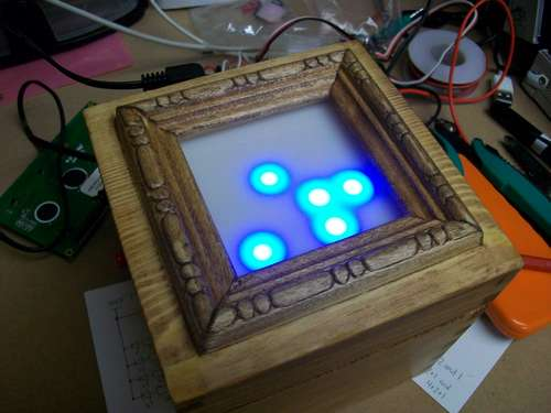 Arduino Powered Binary Clock using ATmega168 microcontroller