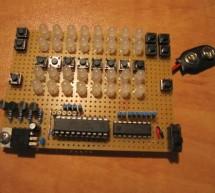 LED Binary Calculator using Microcontroller ATtiny2313
