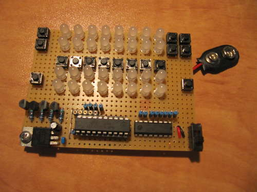 LED Binary Calculator using Microcontroller ATtiny2313