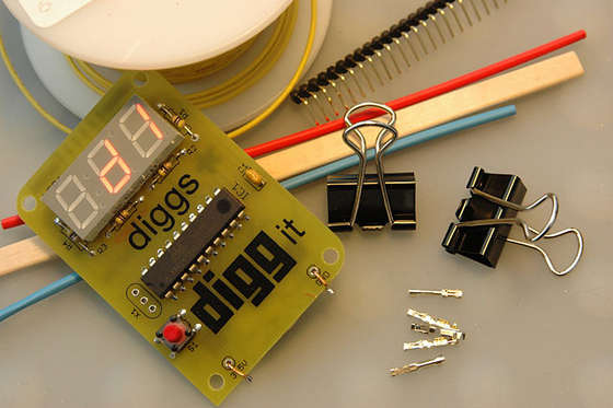Programmable LED using Atmel ATtiny13v Microcontroller