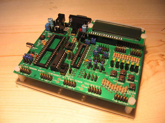 Assembling the Dragon Rider 500 for use with the AVR Dragon using ATmega88 microcontroller