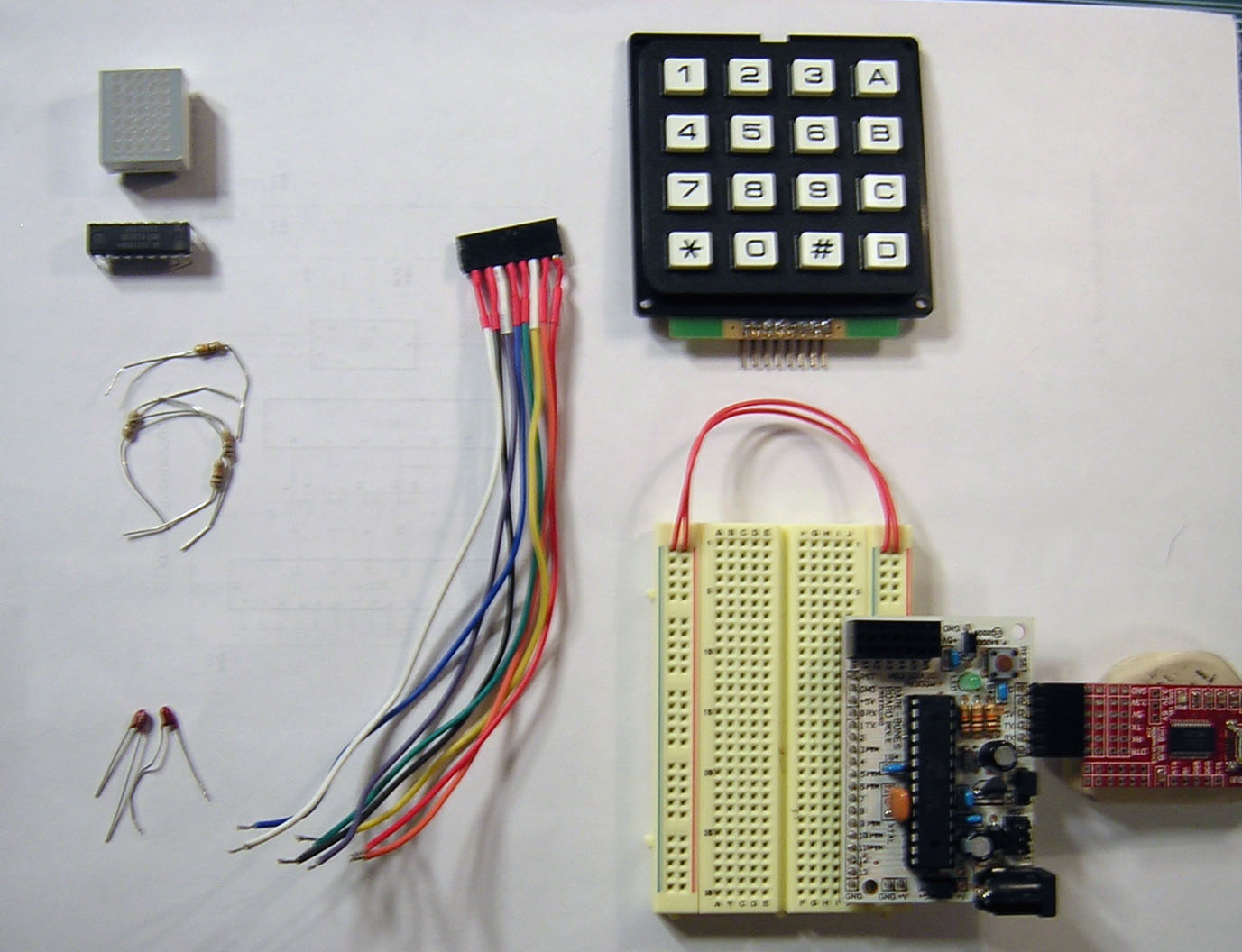 16-key Keypad Decoding with an AVR MCU