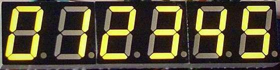 Charlieplexing 7 segment displays using Microcontroller