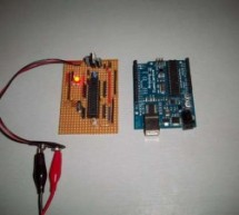 Stripboard Arduino using ATMega168 microcontroller