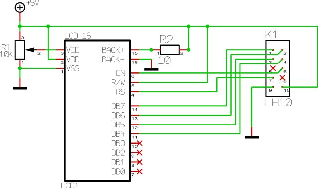 LCD Interface Board Using ATTiny2313