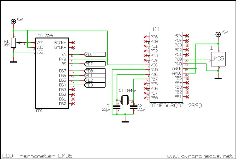 LCD Thermometer TCN75 Using ATTiny2313