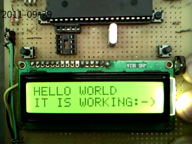 4 bit interfacing of a 16X2 LCD display to PIC16F877A, Atmega16/32 & MSP430