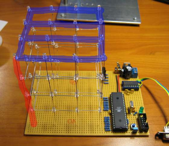 LED Cube LED Cube 4x4x4 using Microcontroller Atmega16