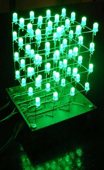 The 4x4x4 LED cube (Arduino)
