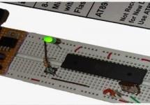 ATmega32 Basic Tutorial Led Blinking using AVR Studio 5
