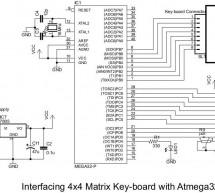 4×4 Matrix Key-board Interfacing with ATmega32