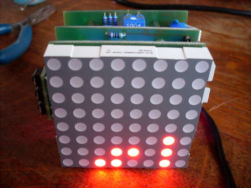 Make a 8x10 L.E.D Matrix using the Arduino and 4017 decade counter
