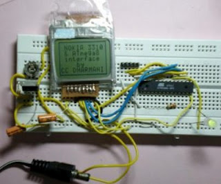 NOKIA 3310 LCD interfacing with ATmega8