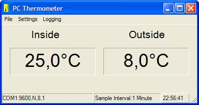 PC Thermometer Using ATTiny2313
