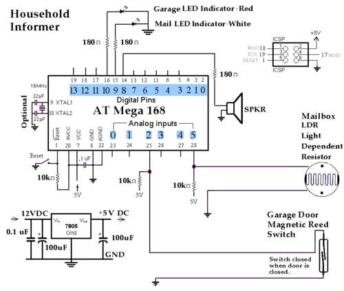 The Household Informer using atmega168 microcontroller