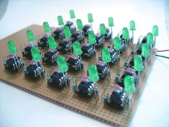 Synchronizing Fireflies using Microcontroller ATtiny13