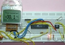 Thermometer using DS1621 and Nokia 3310 LCD interfaced with ATmega8