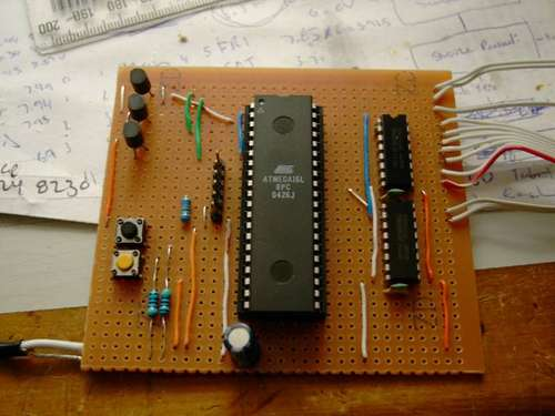 DIY TiX Clock using ATMEGA16 AVR microcontroller