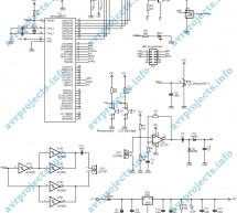 Ultrasonic range finder using ATMega8515