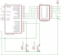 Stepper motor Driver Using AT2313 microcontroller