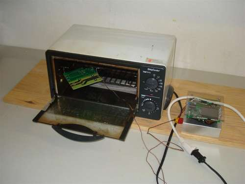 Hack a Toaster Oven for Reflow Soldering using ATmega32 microcontroller