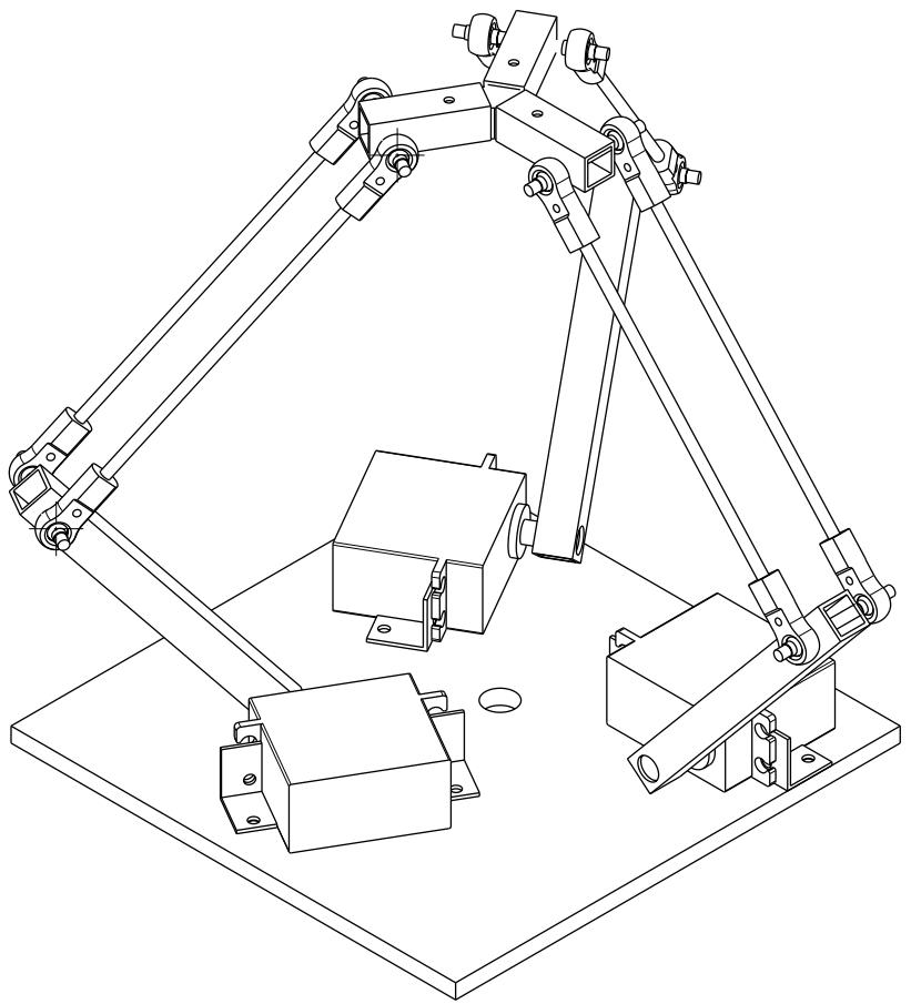 Isometric delta robot