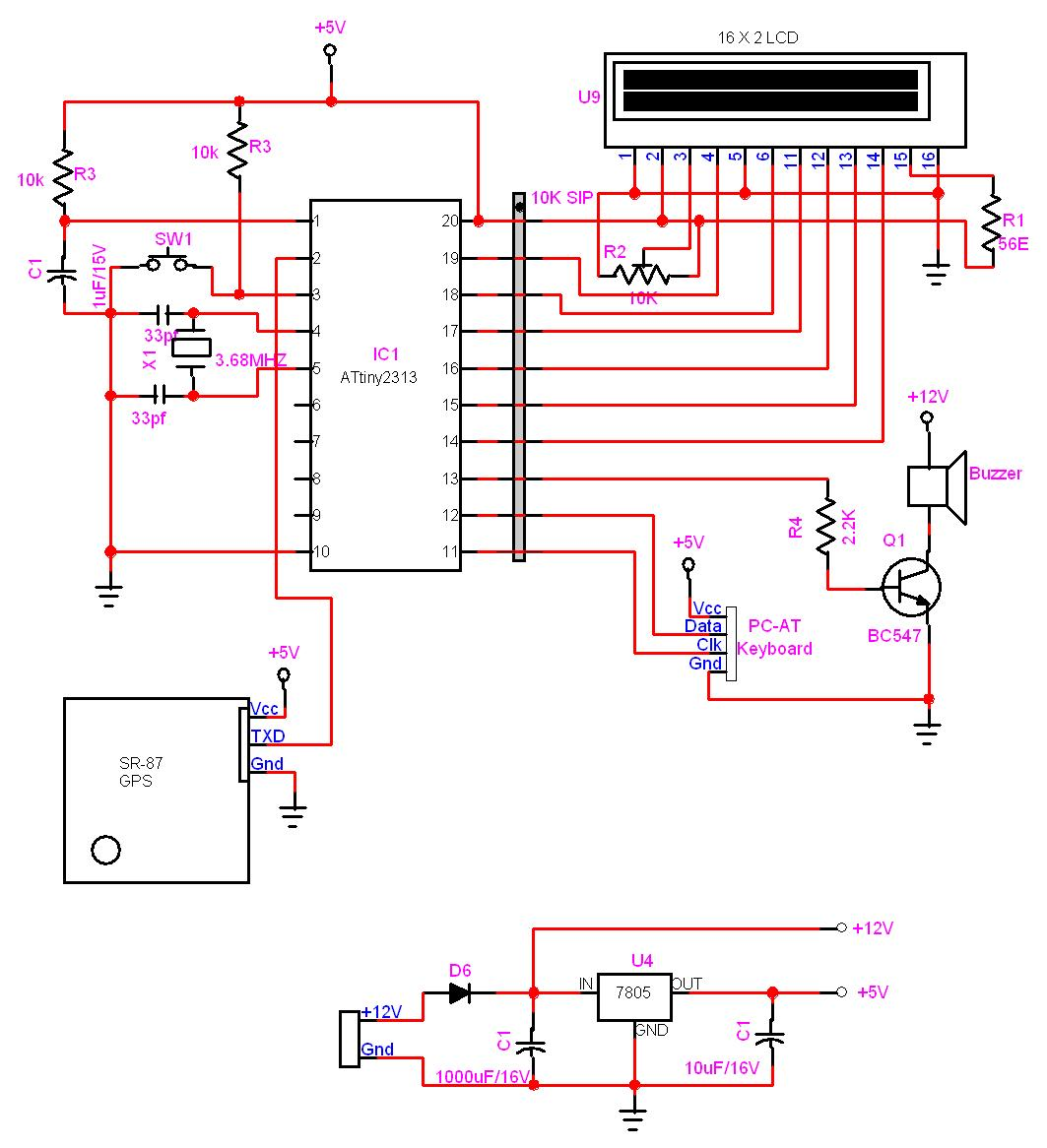 AVR GPS Locator using avr microcontroller