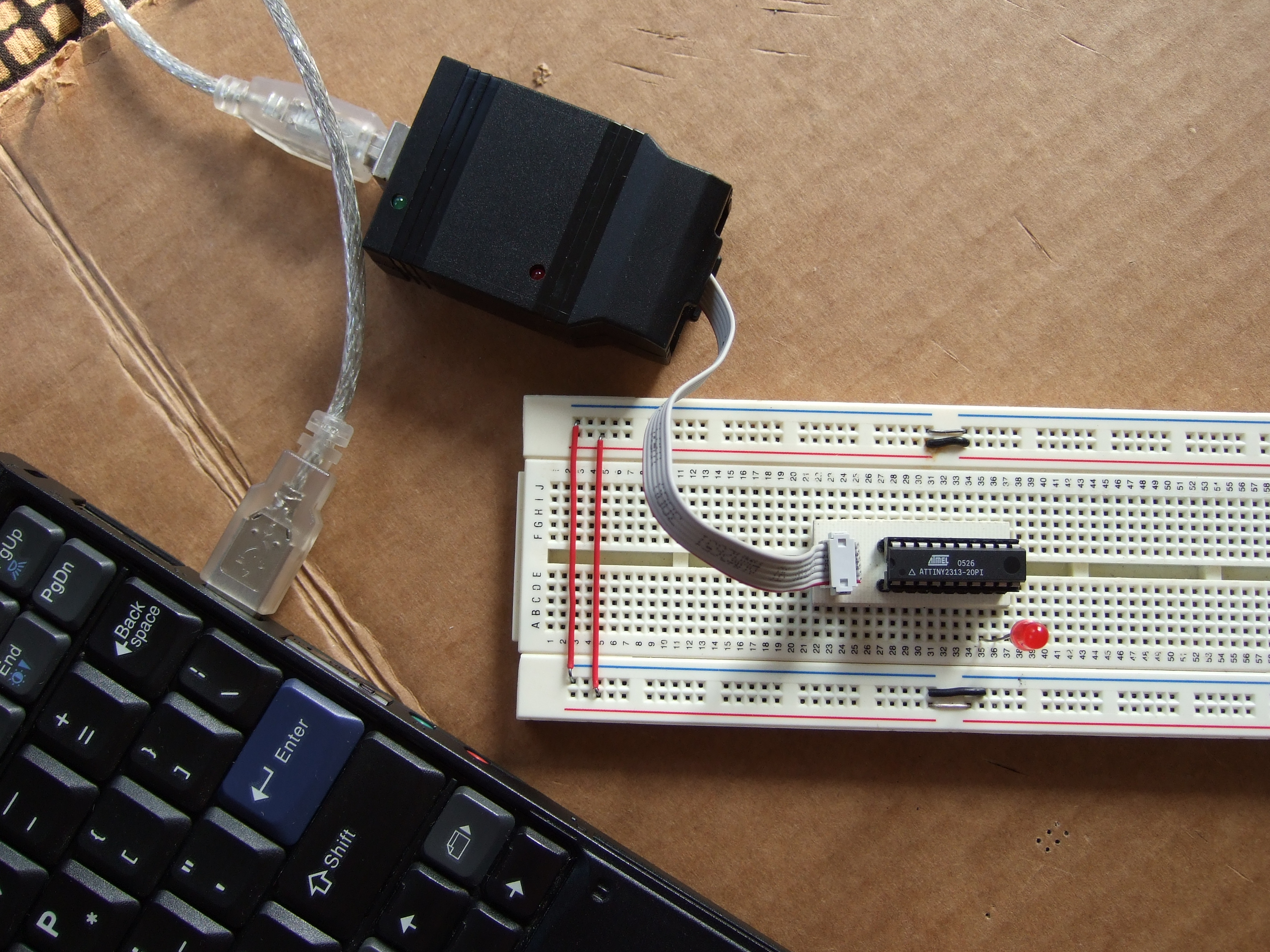USB RFID Reading Keyboard using USnooBie