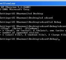 microSD FAT32 testing using Visual C++