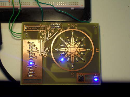 LED wind indicator Using atmega8 Microcontroller