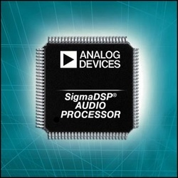 ANALOG DEVICES' SIGMADSP AUDIO PROCESSORS PROVIDE FLEXIBLE SIGNAL ROUTING FOR AUTOMOTIVE SOUND SYSTEMS :  - ADAU144x SigmaDSP audio processor family handles multiple input signals to ease design constraints and increase processing speed in today's multi-function automotive audio designs.