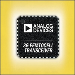 Analog Devices Unveils 3G Transceiver for Femtocell Base Stations :  - ADI's ADF4602-1 transceiver paired with mixed-signal front-end and driver amplifiers creates complete UMTS radio that consumes 30% less power and delivers 50% better EVM.