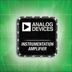 Analog Devices' Amplifier Reduces Board Space and Complexity in Industrial and Instrumentation Equipment :  - ADI's AD8295 precision in amp front-end uses half the space of discrete solutions while providing the industry's best common-mode rejection ratio of 80 dB to 8 kHz.