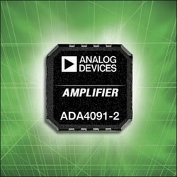 Analog Devices Unveils Op Amp with Over-Voltage Protection for Industrial Process Controls :  ADI's ADA4091-2 dual rail-to-rail op amp delivers industry's best combination of low offset, low offset drift and wide gain-bandwidth across a variety of sensor inputs, while over-voltage protection circuitry prevents phase-inversion errors.