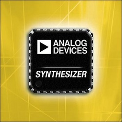 Analog Devices Enhances RF/IF Signal Chain Performance With Highly Integrated Synthesizer and Mixer Family :  - ADI's ADF4350 synthesizer features superior phase-noise performance; couples with ADI's new dual-channel active and passive mixers to enable a highly linear RF front end for cellular base stations, satellite communications, and point-to-point microwave radio equipment.
