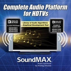 Analog Devices Brings SoundMAX to HDTV :  - Realistic audio rendering complements HD image quality.