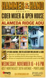 Sustainable Accessory Dwelling Unit in Northeast Portland to Be Showcased at Cider Mixer & Open House on November 16 (Free)