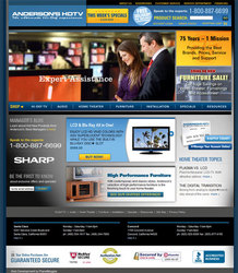 While Big Electronics Stores Close, Anderson's HDTV Keeps Going and Launches New State-of-the-Art Ecommerce Website
