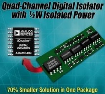 Analog Devices Introduces Four-Channel, Single-Package Solution for Data and Power Isolation :  New iCoupler