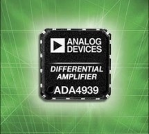 Analog Devices' 120-Milliwatt ADC Driver Features Industry's Best Distortion Performance and Lowest Power Consumption at 70 MHz :  New differential amplifier drives 14- and 16-bit ADCs in communications and high-speed instrumentation applications