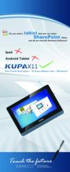 Kupa and Datapolis Announce Joint Product Demonstration of X11 Tablet Computer And Workbox 2010 Workflow Solution at Microsoft SharePoint Conference 2011 in Anaheim, CA