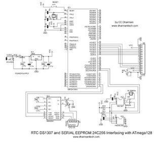 Interfacing RTC & serial EEPROM using i2c bus, with ATmega128 uC